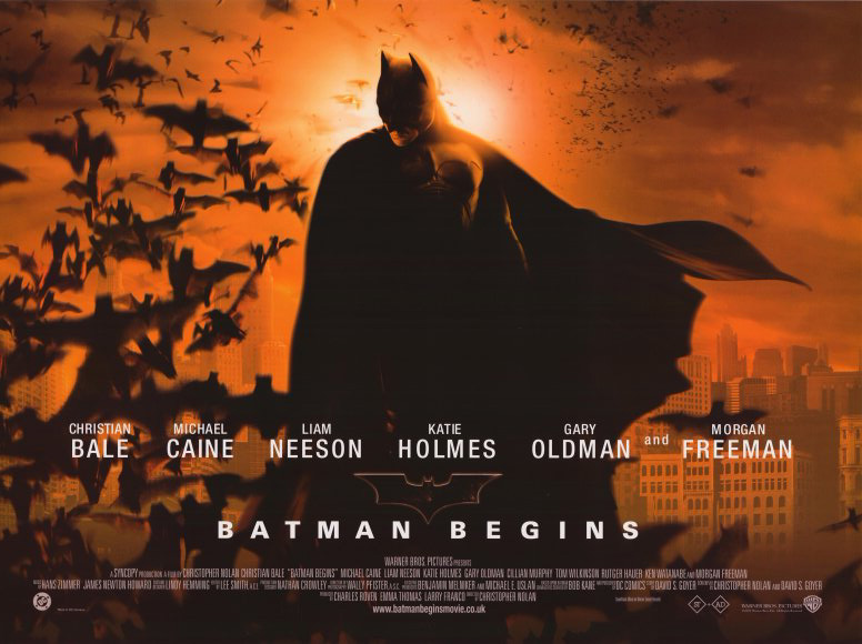 batman begins mvie poster