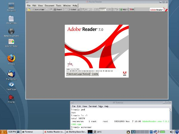 adobe on linux on solaris