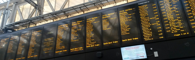 waterloo departures board